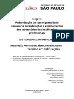 Padronização Do Tipo e Quantidade Necessária de Instalações e Equipamentos Dos Laboratórios de Técnico Em Edificações