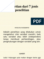 JENIS2 PENELITIAN