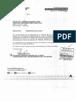 Decreto que ratifica remoción del cargo de la Gerente del CARI