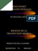 L. Reacciones Postransfusionales