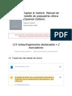 "Notas de "" Kaplan & Sadock. Manual de Bolsillo de Psiquiatría Clínica (Spanish Edition) """