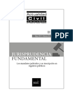 JURISPRUDENCIA FUNDAMENTAL Los Mandatos Judiciales y Su Inscripcion en Registros Publicos