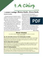 Winter 2019 Grosse Pointe Audubon Newsletter