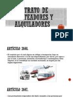 Contrato de Porteadores y Alquiladores