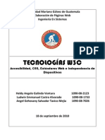 Tecnologías W3C Exposicion