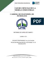 Informe de Curso de Campo Esmeraldas