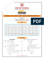 NSTSE Class 08 Solution Paper Code 449 2018 Updated