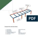 Steel section detail for single floor design