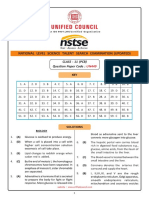 NSTSE Class 11 PCB Solution Paper Code 449 2018 Updated
