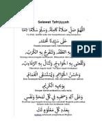 solawat tafriyah