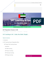 SAT Coaching in Dubai