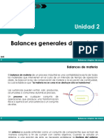 BME - Unidad 2-1 - Balance de Materia Generales