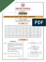 NSTSE Class 12 PCM Solutions Paper 444 Buffer 2018 Updated