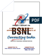 Pefromance Appraisal of an Employees at Bsnl - Nagendra Patel Mba i
