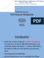 Potholes Problem in INDIA