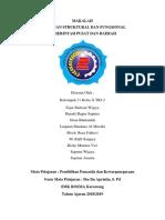 Makalah Hubungan Struktural Dan Fungsional Pemerintah Pusat Dan Daerah