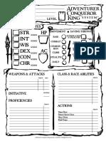 Interactive ACK Character Sheet by Rocco Aka BAMF