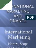 International Marketing & Finance