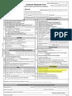 Customer Request Form