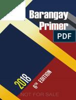 Barangay Primer 2018