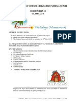 Class 12S Holiday Homework