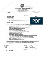 Mount Vernon City Clerk Letters that Joseph Spiezio was not Sworn in Properly as Deputy Police Commissioner