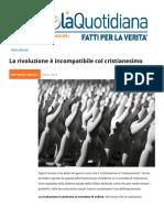 La Rivoluzione è Incompatibile Col Cristianesimo