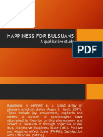 Happiness for Bulsuans
