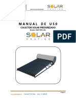 Manual de  Usuario ,sistema solar térmico.