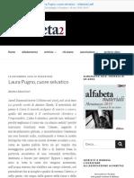 Laura Pugno, Cuore Selvatico - Alfabeta2