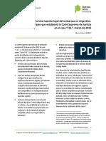 """Corte Suprema de Justicia en El Caso """"FAL"""", Marzo de 2012"""