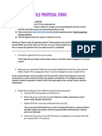 sle proposal form