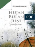 Buku Resensi Novel Hujan Bulan Juni XI IPS 1 2018