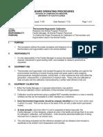 Termometer and Hygrometer Calibration Literature