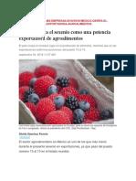 México Cierra El Sexenio Como Una Potencia Exportadora de Agroalimentos