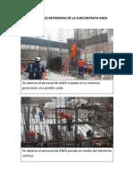 Observaciones Reiteradas de La Subcontratista Anza