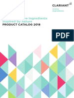 Clariant Active Ingredients_Catalog 2018