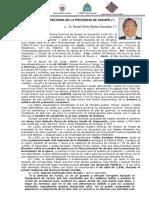 Breve Origen e Historia de La Provincia de Ascope