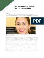 Una Estudiante Mexicana Crea Sistema Anticorrupción y Es Reconocida en Eslovenia