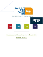 Autonomie Financiere Collectivites Locales