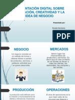 3 Presentación Digital Sobre Innovación, Creatividad y La Idea de Negocio