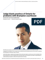 judge blasts province of ontario for problems with brampton courthouse   canadian lawyer mag