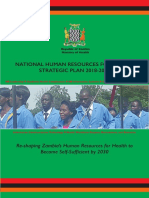Ministry of Health, Republic of Zambia - 2018 - National Human Resources for Health Strategic Plan 2018-2024