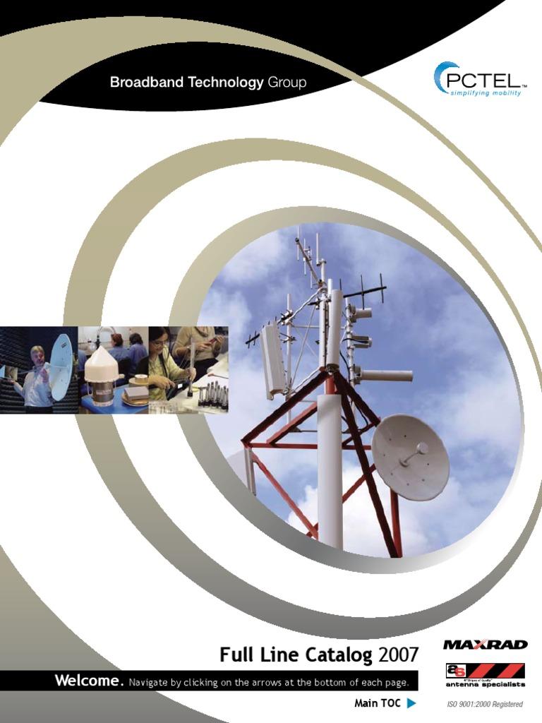 K-332 Cable Assemblies Now MAXRAD//PCTEL K332-406-1000 MHz Ground Plane Disc for Fiberglass Vehicles