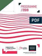 Programme Créativité et territoires 2019