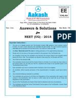 NEET 2018 Aakash Solution Code EE