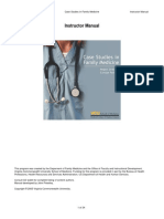 Instructor's Manual Family Medicine Cases