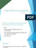 Clinical Case Presentations CARE II
