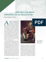 La formacion de la marina española en el siglo XVIII