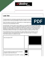 Isx Injector Leak Test